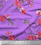 Soimoi Rosa Seide Stoff Blätter, Blüten und Poinsettia