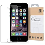 HIPPOX iPhone SE Screen Protector, iPhone 5 Screen Protector [Tempered Glass] 0.2mm Ballistic Glass iPhone 5S / SE / 5C / 5 Glass Screen Protector Work with Protective Case [Lifetime Warranty]