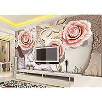 Rureng Nuevo 8D Mural Con Letras Grandes Abstracto Mariposa Orquídea Flor Papel Mural 3D Papel Tapiz