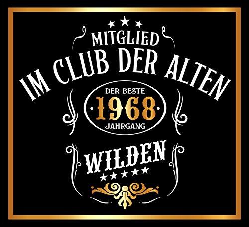 3 St. Aufkleber Original RAHMENLOS® Design: Selbstklebendes Flaschen-Etikett zum 50. Geburtstag: Mitglied im Club der alten Wilden