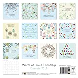 Image de Words of Love & Friendship wall calendar 2016 (Art calendar)