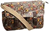 SwankySwans Girls Barrita Owl Print Satchel Grey