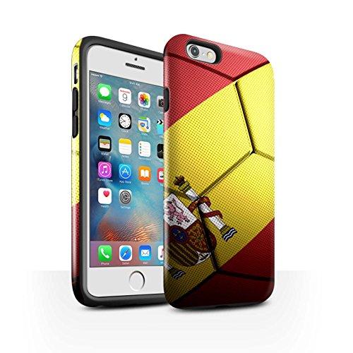 STUFF4 Glanz Harten Stoßfest Hülle / Case für Apple iPhone 7 / Italien Muster / Fußball Nationen Kollektion Spanien/Spanische