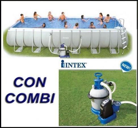 Piscina Intex Ultra Frame rettangolare 975x488x132 cm Combo