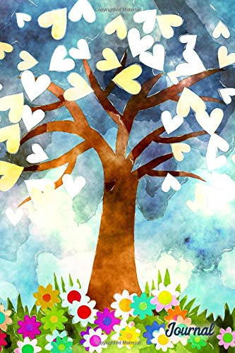 Journal: Tree of Love Tree With Hearts Blank Lined Journal Daily Diary