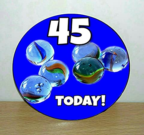 Personalised Custom Nostalgic 1980's Marbles 75mm Birthday Badge (ADD YOUR OWN NUMBER)