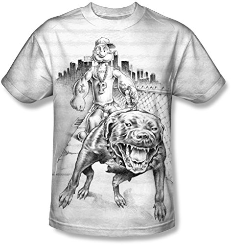 Popeye - - Männer Rough Rider T-Shirt White