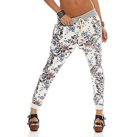 ZARMEXX Femmes Sweatpants Pantalons baggy Boyfriend loisirs pantalons pantalons de sport All-Over Roses Imprimer Taille