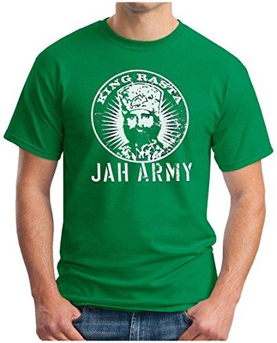 OM3 - KING RASTA - T-Shirt JAH ARMY ROOTS REGGAE DANCEHALL RAGGA IRIE DUB MUSIC DOPE GEEK SWAG, S - 5XL Grün