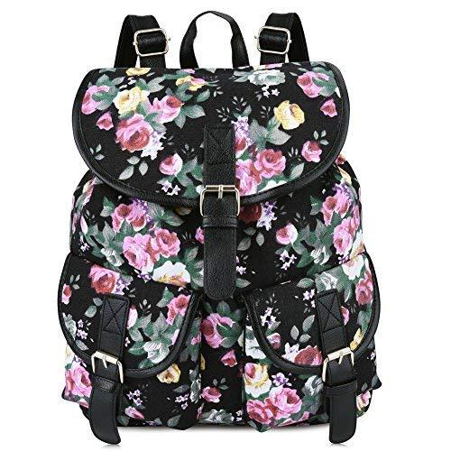 03a0d1c6aa01d Vbiger Damen Rucksack Damen Daypack Backpack Canvas Rucksack Vintage  Rucksack Schulrucksack mit.