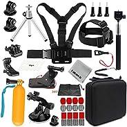Gurmoir Sports Action Camera Accessories Kit Outdoor Travel Camera Accessories Kit for GoPro Hero 8/Hero 7 Bla