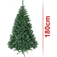 Classic Artificial Realistic Natural Branches Pine Christmas Tree Xmas Green-Unlit 4FT, 5FT, 6FT,7FT,7.5FT (6ft (180cm)) by Kaemingk