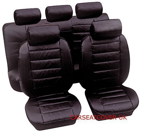 HEAVY DUTY UK MADE LEATHER LOOK CAR SEAT COVERS - FULL SET