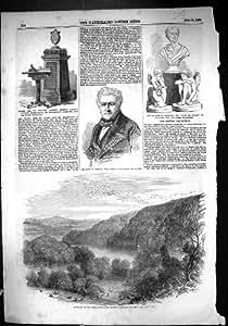 Una Stampa Antica del Vaso 1856 del Marmo di Sharpham Devon Guthrie Ariosto Addison Tabl...