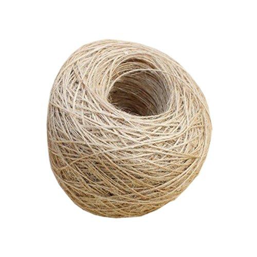 100m Naturjute Burlap Twine Schnur-Seil Arts Crafts Verpackung Hochzeit Geschenkanhänger-Verpackungs-Dekoration (10 Stück) (Freundliche Jute)