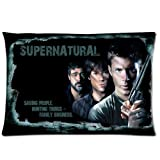 Akhy Custom Supernatural Pillowcase Dean Sam Winchester Pattern Pillow Case American Drama TV Series Rectangle Zippered Throw Pillow Cover 20x30 (Twin Sides)