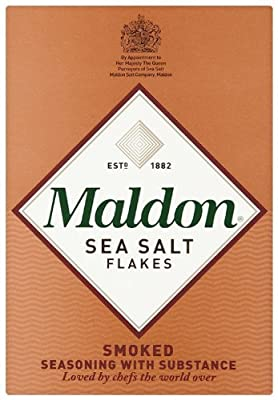 Organic Maldon Smoked Sea Salt 125 g (Pack of 4) from Maldon Crystal Salt Company Limited