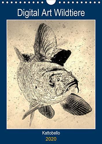 Digital Art Wildtiere (Wandkalender 2020 DIN A4 hoch): Realistische Fotos von Wildtieren als digitale Kunst (Planer, 14 Seiten ) (CALVENDO Kunst)
