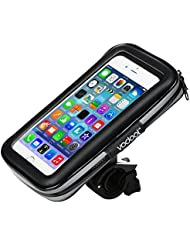 Vodool Bolsa Impermeable de Bicicleta para Ciclista Ciclismo para Teléfonos, Móviles, Tableta, iPod, MP3, GPS Inferior de 5.5 inches 360 ° Multiángulo Gire Libremente