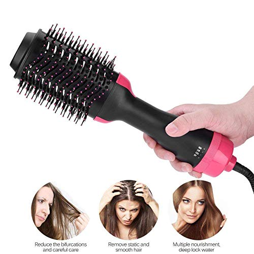 Multifunktionale Heißluftbürste Curler und Straightener Haartrockner 2 in 1 Haar-Styler-Tool Hair Comb Reduce Frizz und Static Infrared Hot Air Comb Negative Ion Hot Air Comb (Comb Conair)