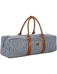 Baosha YG-01 Canvas Yoga Mat Duffle Bag With Multi-Functional Storage Pockets (Blue Strip)