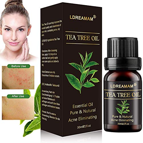 Teebaumöl,Akne Öl,Acne Serum,Anti-Akne-Behandlung,Ideal Gegen Unreine Haut,Anti Pickel,Gegen Akne,Entzündungshemmend,Antibakteriell,...