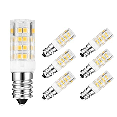 6-Pack E14 LED Bulbs,45W Equivalent Small Edison Screw Appliance Light
