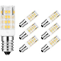 Yoky E14 LED Lampadina,5W Sostituire 45W Lampada Alogena, 3000K Bianco Caldo,400lm Angolo Fascio 360,AC 200-240V,Confezione da 6 Faretti LED [Classe di efficienza energetica A]