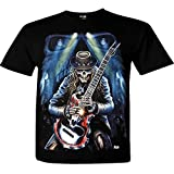 Reaper Guitar Skull Rock T-Shirt