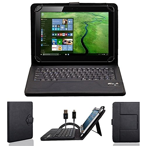NAUC Bluetooth Tastatur Tasche Toshiba Excite AT10-A-103-104-106 Tablet Hülle Cover