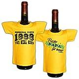 Mini T-Shirt Set Original since 1999 The real king und Bester Papa für immer Flaschenüberzieher Geschenk für das Geburtstagskind zum 19. Geburtstag