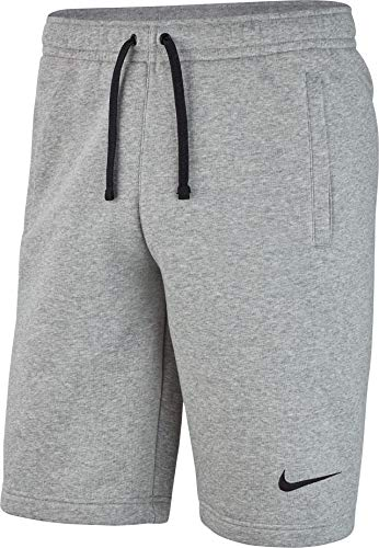 Nike Herren M FLC TM CLUB19 Sport Shorts, dk Heather/Dark Steel Grey/Black, L -