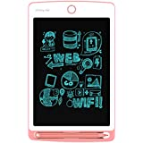 RUUKON 8.5-inch LCD Writing Tablet For Kids Electronic Writing Tablet Digital Drawing Pad with one Erase Button Electronic Message Board Saving Papers and Pens (Pink)