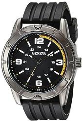 Geneva Mens FMDJM513 Analog Display Quartz Black Watch