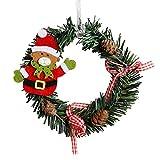 mxjeeio 1pcs Miniatur hängende Weihnachtskranz Mini Kranz Weihnachtsschmuck für Puppenstuben Mini Weihnachtskranz Dekor Wand Tür Ornament Garland Xmas Party Decor,15 * 15cm