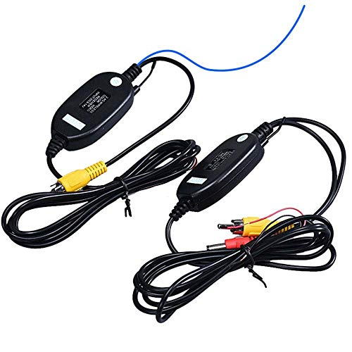 Dynavsal 2,4G Wireless Transmitter Empfänger für Rückfahrkamera und Monitor Einparkhilfe Fahrzeug CAM GPS Radio Player auslösen (Tippe A Mit umgekehrter Auslöselinie) Ge-wireless-kamera