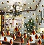 Hunpta Kristall Glasperle Vorhang Luxus Wohnzimmer Schlafzimmer Fenster Tür Hochzeit Dekor (C)