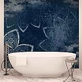 Moderne abstrakte Muster Vintage Blue - Wallsticker Warehouse - Fototapete - Tapete - Fotomural - Mural Wandbild - (2572WM) - XL - 208cm x 146cm - VLIES (EasyInstall) - 2 Pieces