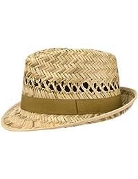 Hutshopping Santiago Western Hut Damen//Herren Westernhut mit Kinnband Strohhut Sonnenhut in 55-61 cm Cowboyhut aus 100/% Stroh
