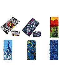 Datechip Multifonctions Magic 12 en 1 Bandeau Foulard Bandana écharpe anti-insectes UV [Paisley] Bracelet, Casque, Cagoule, Bandeau, Cache-cou, Premium 100% Microfibre