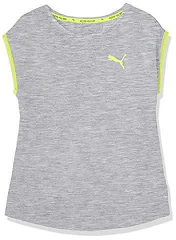 Puma T-shirt pour enfants Soft Sport Layer Thé G 14 ans gris clair