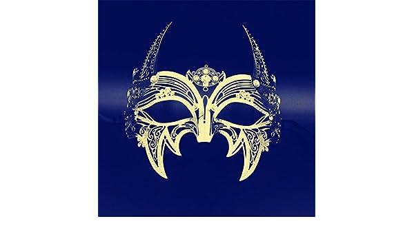 Maskerade,Performance Fotografie Requisiten Maske Tanzparty Party Maske Cosplay Upscale Metall Maske Halloween Erwachsene 4 Masquerade Sport & Freizeit