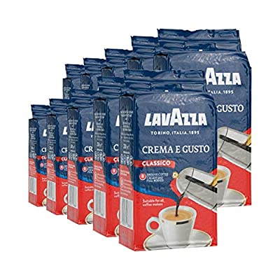 Lavazza Crema e Gusto Ground Coffee 250g (Pack of 10) by Lavazza
