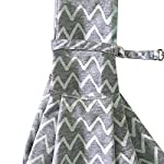 PENIVO Pet Dogs Sling Carrier Bag Grey Striped Soft Comfortable Hands-free Adjustable Shoulder Bag for Dog / Cat Bicycle… 14