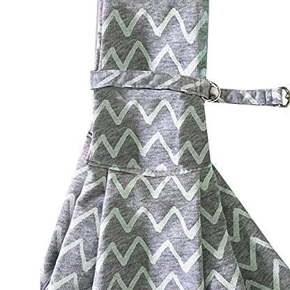 PENIVO Pet Dogs Sling Carrier Bag Grey Striped Soft Comfortable Hands-free Adjustable Shoulder Bag for Dog / Cat Bicycle… 5