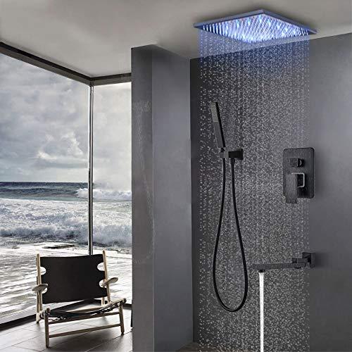 SHIJING Bad Wasserhahn Schwarz Bronze Regen Dusche Bad Wasserhahn Deckenmontage Badewanne Dusche Mischbatterie Bad Dusche Wasserhahn Dusche Set -
