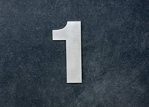 Numero 1, adhesivo,120mm, acero inoxidable AISI 316, casa, portal y exterior