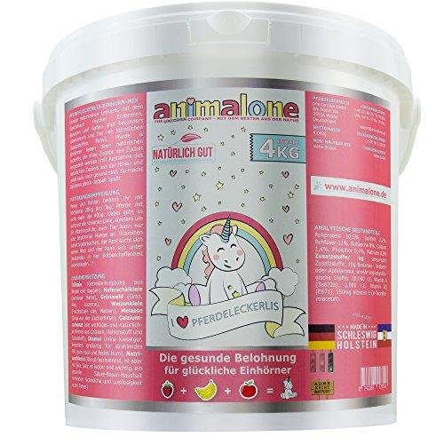 Apfel-ingwer Vitamine (animalone - PFERDELECKERLIS EINHORN-MIX - 4 KG Eimer mit Apfel, Banane & Erdbeere - das gesunde Leckerli für Ponys, Pferde und Einhörner)