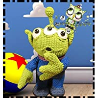 ALIEN TOY STORY REGALO NAVIDAD, AMIGURUMI REGALO PERSONALIZABLE (Bebé, crochet, ganchillo,