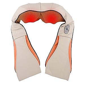 wolketon Nackenmassagegerät für Schulter Nacken Rücken, 3D-Rotation Mit Wärme Einstellbaren Geschwindigkeite Shiatsu, Massage Elektrische Massagegerät für Haus Auto